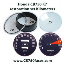 Honda CB750 K7 gauge restoration set KILOMETERS per hour