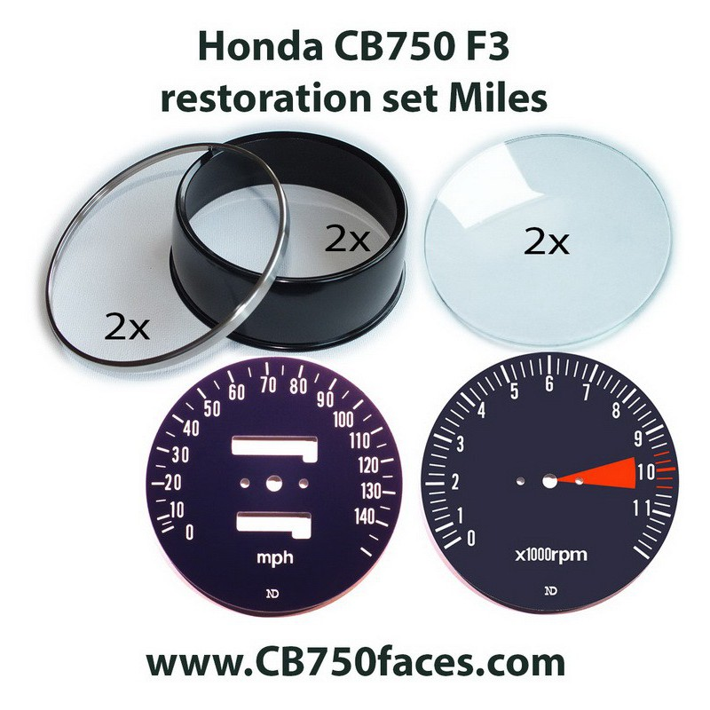 Honda CB750 F3 gauge restoration set MILES per hour