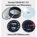 Honda CB550 K3 / F2 restoration set KILOMETERS for tacho and speedo gauges
