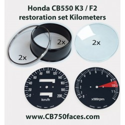 Honda CB550 K3 / F2 restoration set KILOMETERS for tacho and speedo gauges