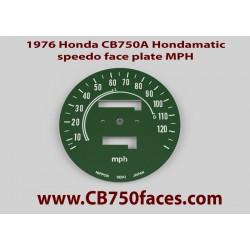 1976 Honda CB750A Hondamatic face plate MPH