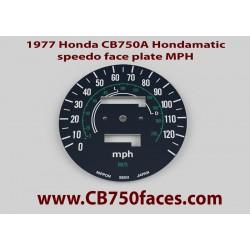 1977 Honda CB750A Hondamatic tellerplaat MPH
