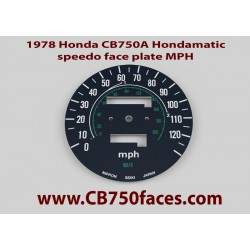 1978 Honda CB750A Hondamatic face plate MPH