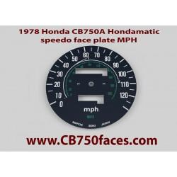 1978 Honda CB750A Hondamatic tellerplaat MPH