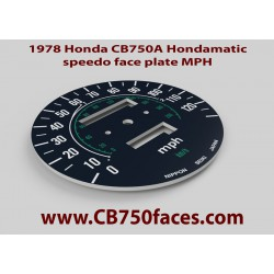 1978 Honda CB750A Hondamatic Tachoscheibe MPH