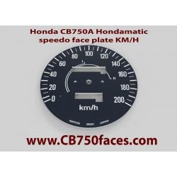 1977 Honda CB750A Hondamatic face plate MPH