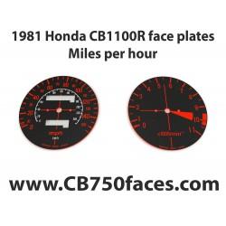 1981 Honda CBR 1100R face plates Miles per Hour
