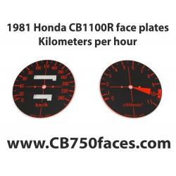 1981 Honda CBR 1100R face plates Kilometers per Hour