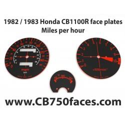 1982 / 1983 Honda CBR 1100R face plates Miles per Hour