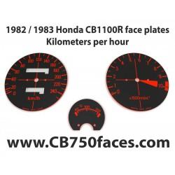 1982 / 1983 Honda CBR 1100R face plates Kilometers per Hour