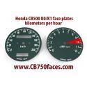 Honda CB500 K0 K1 face plates km/h
