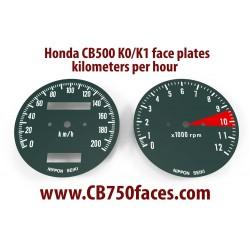 Honda CB500 K0 K1 face plates set km/h