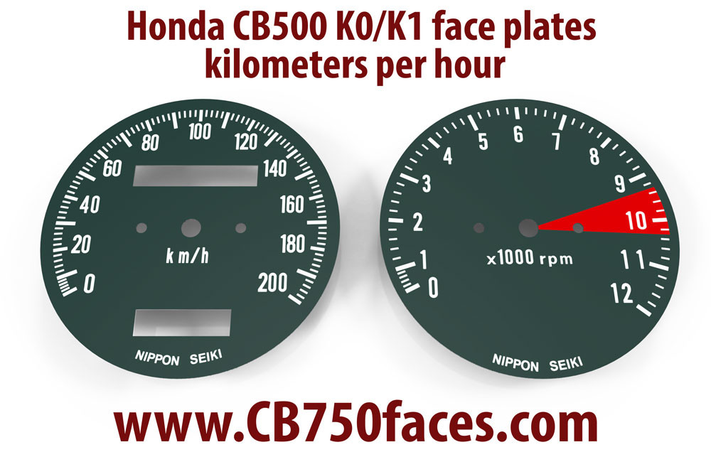 Speedometer Speedo Odometer Trip Meter KPH KMH Honda CB 500 Four CB 750 CB 550 K