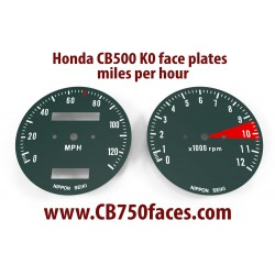 Honda CB500 K0 K1 face plates set mph