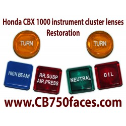 Honda CBX 1000 Idiot light instrument lenses restoration service