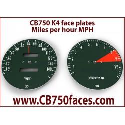 Honda CB750 K3 K4 face plates miles per hour gauge clock instrument