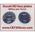 Ducati Darmah Pantah 900SS 500SL face plates Tachoscheiben km/h