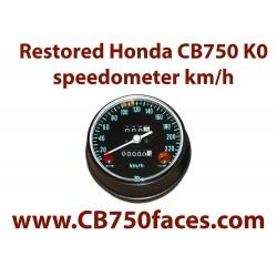 Honda CB750 K0 speedometer km/h metric