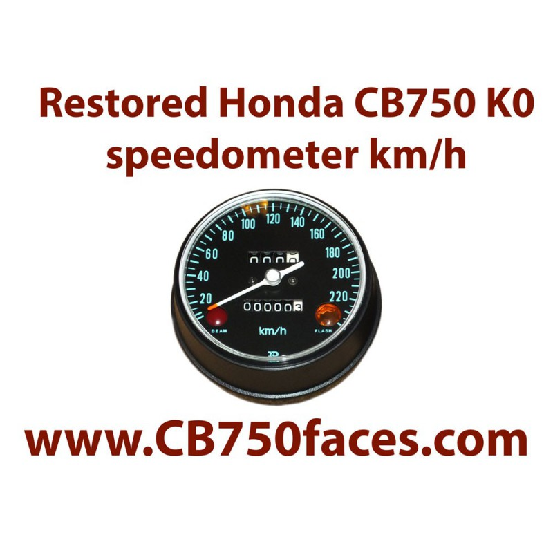 Honda CB750K0 speedo meter kilometers
