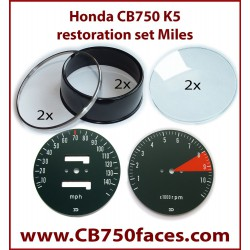 Honda CB750 K4/K5 gauge restoration set (tacho and speedo)