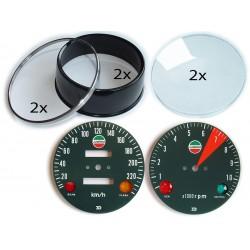 Laverda ND Zählerrestaurierungsset (Drehzahlmesser und Tachometer)