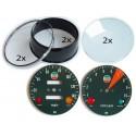 Laverda ND gauge restoration set KILOMETERS (tacho and speedo)