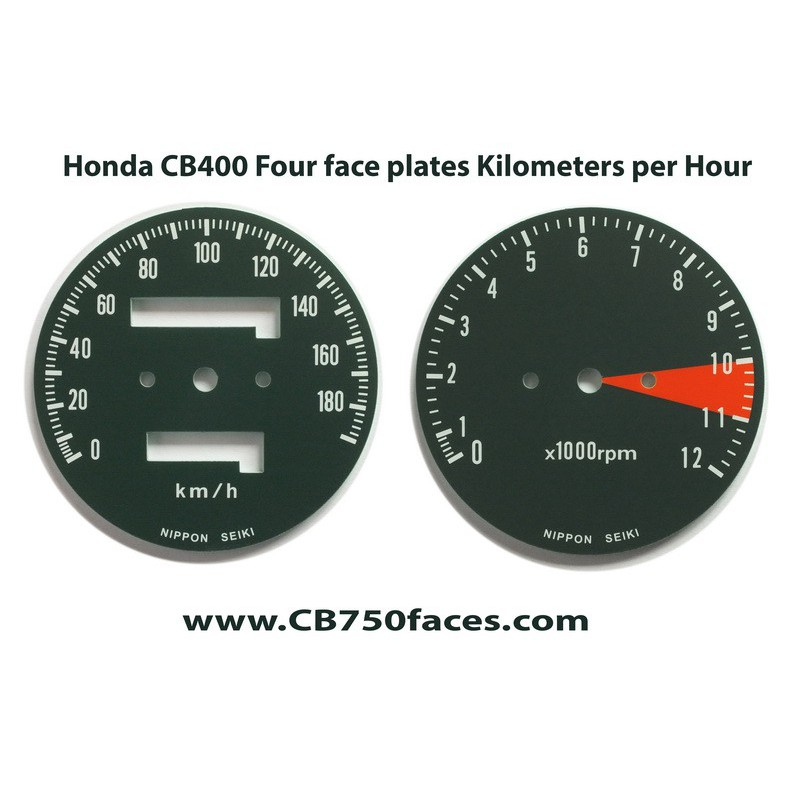 Honda CB400 Four face plates set km/h speedo meter tacho meter gauge clock instrument