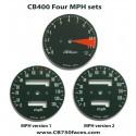 Honda CB400 Four face plates set mph gauge clock speedo meter tacho meter