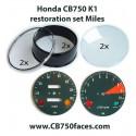 honda cb750 k1 gauge clock housing cover instrument restoration set