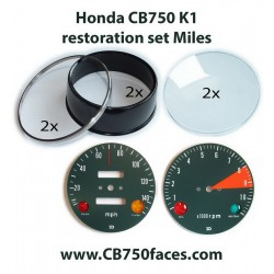 honda cb750 k1 gauge clock housing cover instrument restoration set
