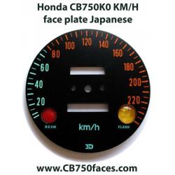 Honda CB750 K0 Tachoscheibe Japanisch Tachometer km/h