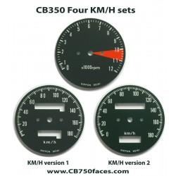 Honda CB350 Four face plates set km/h speedo meter tacho meter gauge clock instrument