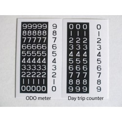Honda CB750 ODO and day trip counter decals