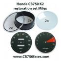 Honda CB750 K2/K3 gauge restoration set tacho and speedo gauge clock instrument