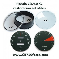 Honda CB750 K2 / K3 restoration set MILES for tacho and speedo gauges