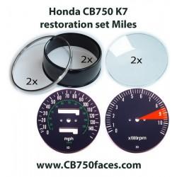 Honda CB750 K7 gauge restoration set MILES per hour