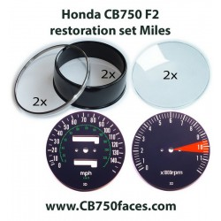 Honda CB750 F2 gauge restoration set MILES per hour