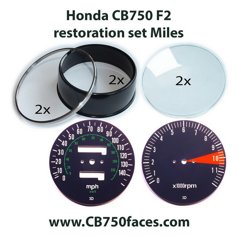 honda cb750 k7 gauge restoration speedometer tachometer clocks rev counter dial