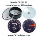 Honda CB750 F2 - F3 gauge restoration set KILOMETERS per hour