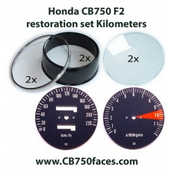 Honda CB750 F2 - F3 gauge restoration set KILOMETERS per hour