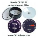 Honda CB750 F3 gauge restoration set MILES per hour