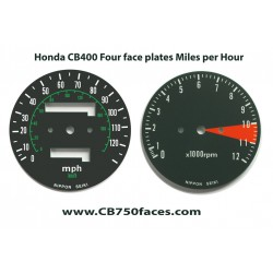 Honda CB400F Tachoscheiben set mph-km/h VK/Kanadier Version
