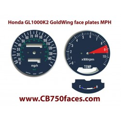 Honda GL1000 K2 GoldWing face plates MPH