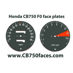Honda CB750 F0 face plates set for tacho meter and speedo meter