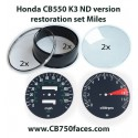 Honda CB550 K3 restoration set MILES for tacho and speedo gauges Nippon Seiki