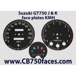 Suzuki GT750 J & K Tachoscheiben mph