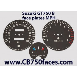 Suzuki GT750 J & K face plates mph