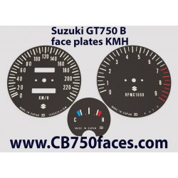 Suzuki GT750 J & K face plates kmh