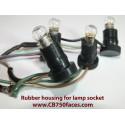 Rubber housing for lamp socket Laverda ND gauges