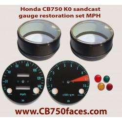 Honda CB750 K0 gauge restoration set MILES (tacho and speedo)